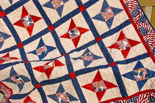 Quilt of Valor, 2011, a pinwheel pattern. (Dorothy Tuma)