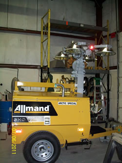 Allmand Brothers produces Maxi-Lite equipment for construction sites.